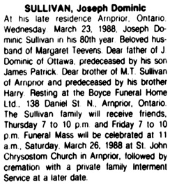 The Ottawa Citizen, March 24, 1988, page 48, column 5.