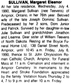 The Ottawa Citizen, July 6, 1990, page 59, column 3.