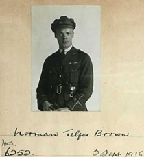 Ancestry.com. Great Britain, Royal Aero Club Aviators' Certificates, 1910-1950 [database on-line]. Provo, UT, USA: Ancestry.com Operations Inc, 2008. Name: Norman Telfer Brown; Birth Date: 30 Jan 1890; Birth Location: Woodstock, Ontario, Can.