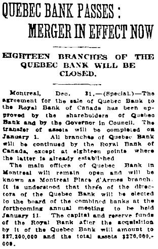 Toronto Globe, January 1, 1917; page 12, column 2.
