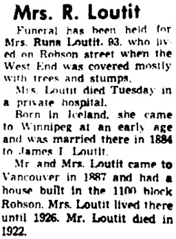 Vancouver Sun, January 17, 1959, page 8, column 2.