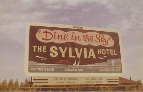 Sylvia Hotel, billboard, https://www.bcha100.com/sylvia-hotel/.