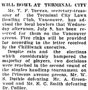 The Chilliwack Progress, June 25, 1924, page 4, column 4.