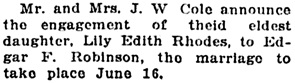 Vancouver Daily World, June 9, 1915, page 5, column 5.