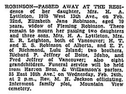 Vancouver Sun, February 23, 1932, page 12, column 1; https://news.google.com/newspapers?id=wS9lAAAAIBAJ&sjid=4YgNAAAAIBAJ&pg=2334%2C2240996.