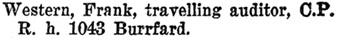 "Henderson's BC Gazetteer and Directory, 1897, page 695 [street mis-spelled ""Burrfard"" instead of ""Burrard""]."