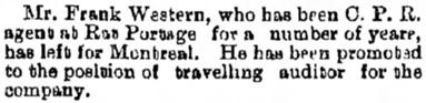 Manitoba Free Press (Winnipeg), April 13, 1892, page 6, column 4.