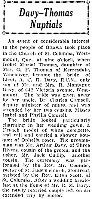 The Ottawa Citizen, September 7, 1926, page 15, column 3.
