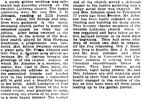 Vancouver Daily World, January 30, 1918, page 5, columns 3-4.