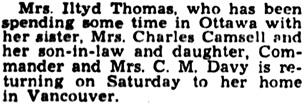 The Gazette (Montreal), November 21, 1941, page 17, column 5.