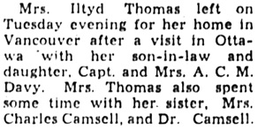 The Ottawa Journal, March 13, 1946, page 10, column 2.