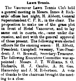 Vancouver Daily World, May 4, 1889, page 4, column 2.