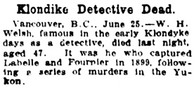 The Gazette (Montreal), June 26, 1912, page 6, columns 6-7.