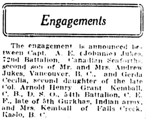 Vancouver Daily World,Friday, August 3, 1917, page 5, column 4.