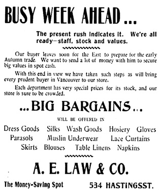 Vancouver Daily World, June 5, 1899, page 3, columns 4-5.
