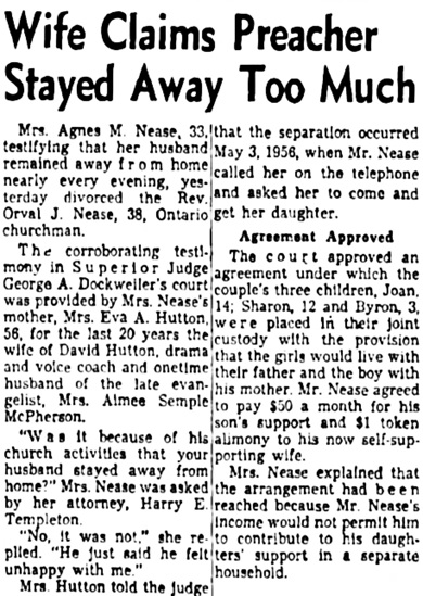 The Los Angeles Times, May 22, 1957, page 2, columns 3-4.