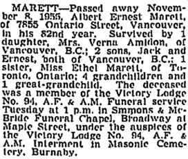 Vancouver Sun, November 19, 1955, page 32; https://news.google.com/newspapers?id=Fz5lAAAAIBAJ&sjid=zIkNAAAAIBAJ&pg=1267%2C3863189 [also in Vancouver Province, November 19, 1955, page 35].