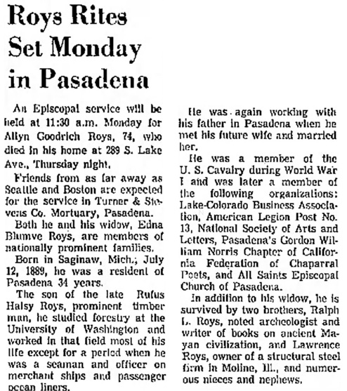 Independent Star-News, (Pasadena, California), February 2, 1964, page 27.