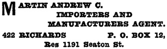 Henderson's City of Vancouver Directory, 1908, page 789.
