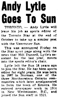The Winnipeg Tribune, October 22, 1949, page 18, column 8.