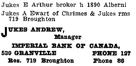 Henderson's City of Vancouver and North Vancouver Directory, 1910, Part 2, page 850 [selected portions].