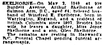 Victoria Daily Colonist, May 3, 1949, page 17, column 1; http://archive.org/stream/dailycolonist0549uvic_0#page/n16/mode/1up.