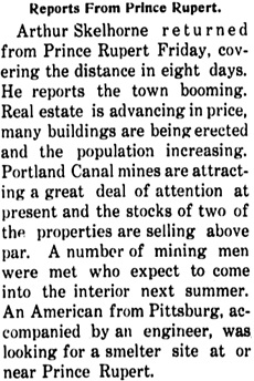 Omineca Herald, January 29, 1910, page 6, column 3; https://open.library.ubc.ca/collections/bcnewspapers/omineca/items/1.0082700#p5z-2r0f: