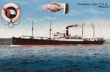 Athenia (1) (1904-17); Donaldson Fleet List; http://www.simplonpc.co.uk/Donaldson.html.