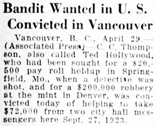 The Des Moines Register, Des Moines, Iowa, April 30, 1925, page 4, column 1.