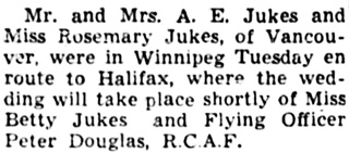 The Winnipeg Tribune, October 18, 1940, page 8, column 6.