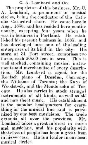 Victoria Daily Colonist Special Edition, April 1896, page 8, column 2; http://archive.org/stream/dailycolonist18960405uvic/18960405#page/n7/mode/1up.