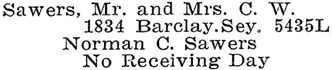 Vancouver Social Register and Club Directory, 1914, page 60.