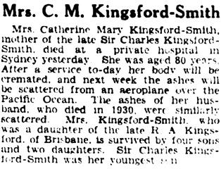The Argus (Melbourne, Victoria), March 19, 1938, page 2, column 7; https://trove.nla.gov.au/newspaper/article/11168335.