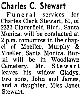 The Los Angeles Times, March 14, 1958, page 26, column 2.