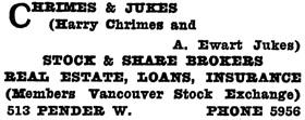 Henderson's City of Vancouver and North Vancouver Directory, 1910, Part 1, page 621.