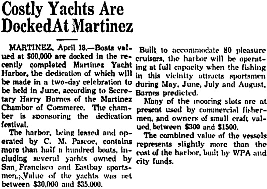 Santa Cruz Sentinel (Santa Cruz, California), April 19, 1936, page 4, column 3.