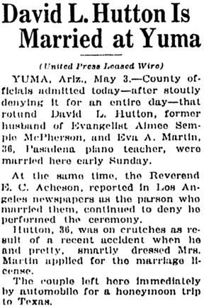 The Bakersfield Californian (Bakersfield, California), May 3, 1937, page 2, column 5.