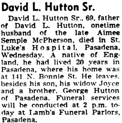 The Los Angeles Times, August 22, 1947, page 16, column 6.