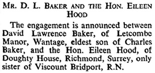 Marriages, The Times (London, England), May 12, 1933, page 17.