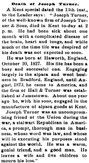 The Democratic Press (Ravenna, Ohio), February 19, 1880, page 3, column 3.