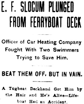 The Brooklyn Daily Eagle, November 15, 1907, page 1, column 7 [headlines only].