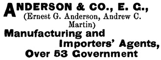 Henderson's BC Gazetteer and Directory, 1891, page 595 (Victoria).