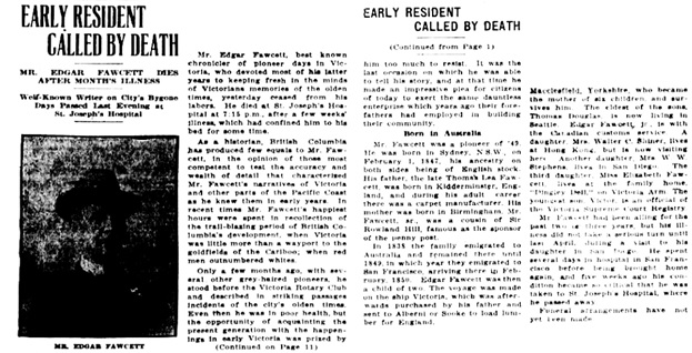 Victoria Daily Colonist, July 14, 1923, pages 1 and 10; http://archive.org/stream/dailycolonist0723uvic_11#page/n0/mode/1up; http://archive.org/stream/dailycolonist0723uvic_11#page/n10/mode/1up.