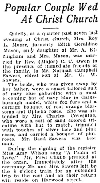 Vancouver Daily World, March 25, 1920, page 6, column 4.
