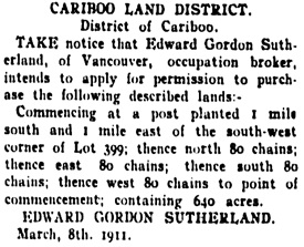 Fort George Herald, May 13, 1911, page 5, column 6; https://open.library.ubc.ca/collections/bcnewspapers/fgherald/items/1.0344674#p4z0r0f:
