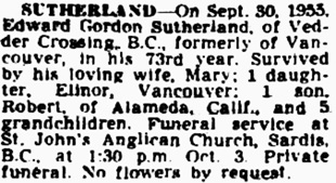 Vancouver Province, October 3, 1955, page 29.