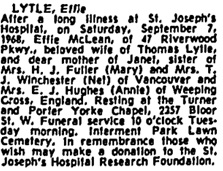 Toronto Globe and Mail, September 9, 1968; page 30.