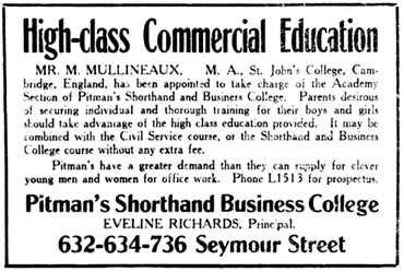 Vancouver Daily World, January 5, 1910, page 16, columns 4-5.