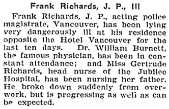 Victoria Daily Colonist, April 18, 1907, page 6, column 3; http://archive.org/stream/dailycolonist19070418uvic/19070418#page/n5/mode/1up.