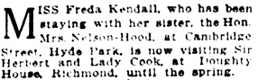 Vancouver Daily World, January 6, 1922, page 6, column 4.